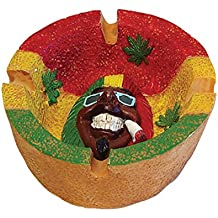Ashtray Marijuana Leaf Rasta Round Ashtray - Cigarette Ashtray Weed Hemp Marijuana Pot Cannabis Party Accessory