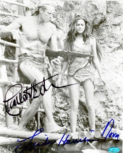 Autograph Warehouse 71025 Charlton Heston And Linda Harrison Autographed 8 x 10 Photo Planet Of The Apes Image No. 3