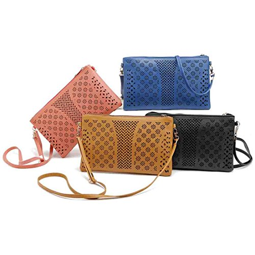 Women Wallet Phone for Mini Bags Crossbody Coral Leather Cell Red Messenger Bag Bag Handbag Small Purse 0tqpCwC
