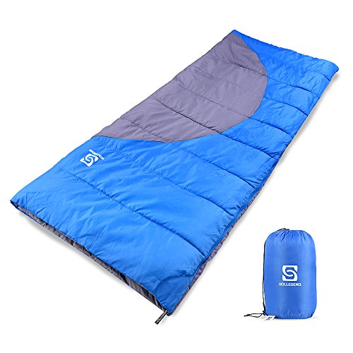 HOLLEGEND Sleeping Bag - Envelope Lightweight Portable,Waterproof,Perfect for Camping,Hiking,Backpacking,Traveling and Outdoor Activities