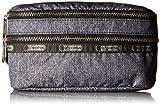 LeSportsac Modern Double Zip Belt Waist Pack, Gunmetal Denim, One Size