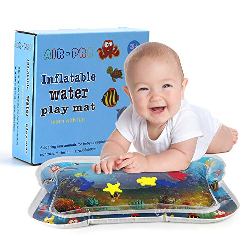 Homegician Inflatable Tummy Time Premium Water mat Infants & Toddlers is The Perfect Fun time Play Activity Center Your Babys Stimulation Growth