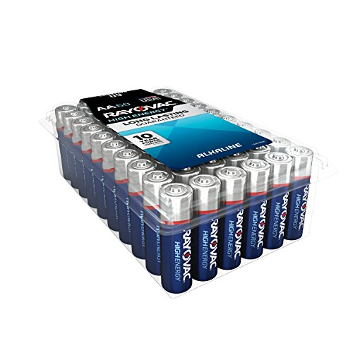 RAYOVAC AA 60-Pack HIGH ENERGY Alkaline Batteries, 815-60PPK by Rayovac