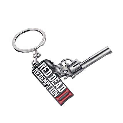 US-PopTrading Car Key Chain Gun Metal Model Key Ring Keychain Pendant Alloy Key Holder for Cool Men and Women