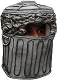Largemouth Men's Trash Can Overhead Latex Mask (Gray)