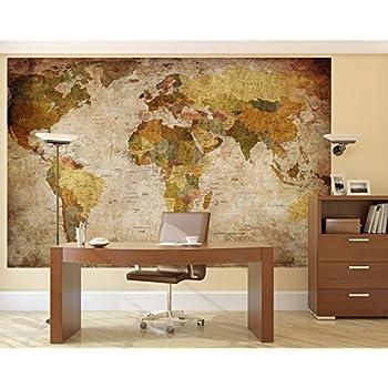 Amazoncom LB Prepasted Wall Mural Foto Wall Decor World Map 827