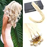 """Sunny Brazilian Seamless Skin Weft Tape in Hair Extensions White Blonde #60 14"""" Human Hair Extensions 20pcs 25g Remy Blonde Hair Extensions"""