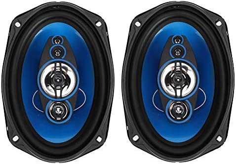 Car Loudspeaker,6x9in 1000W Pair of Auto Car HiFi Stereo Audio Coaxial Speakers Loudspeaker TP-6971 Blue Black