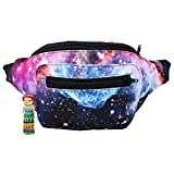 Galaxy Fanny Pack, Space Party Boho Chic Handmade with Hidden Pocket (The Fanny Frontier)
