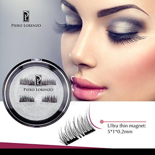 Magnetic Eyelashes Prime Set(4 pcs) for Natural Look 3D Dual Magnet Reusable Best Eyelashes