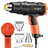Best Hot Air Guns - REXBETI 1800W Variable Temperature Heat Gun, 140℉-1210℉(60℃-654℃) High Review