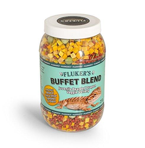 Fluker's 76052 Buffet Blend Juvenile Bearded Dragon Veggie Variety Diet, 5oz
