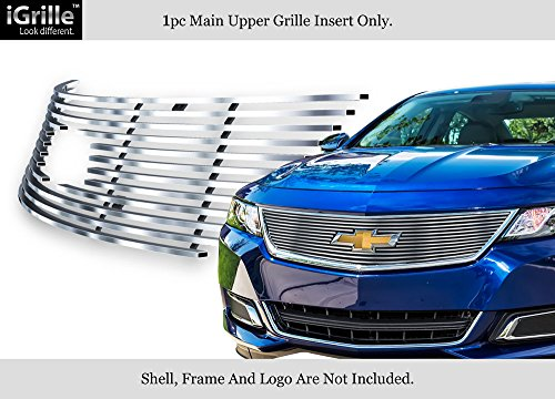 APS for 2014-2019 Chevy Impala Logo Show Stainless Steel Upper Billet Grille #C65945C