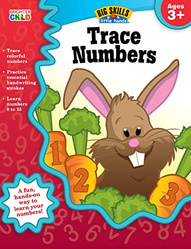 Trace Numbers Workbook, Grades Preschool - K (Big Skills for Little - Brighter Activities Learning Child