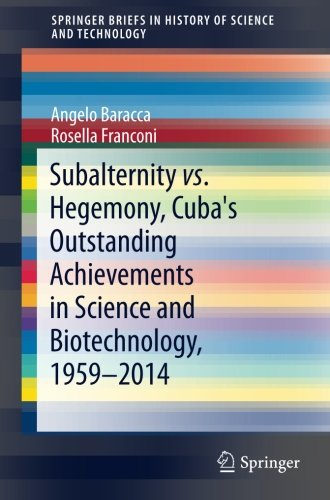 Subalternity vs. Hegemony, Cuba's Outstanding Achievements in Science and Biotechnology, 1959-2014 (SpringerBriefs in History of Science and Technology)