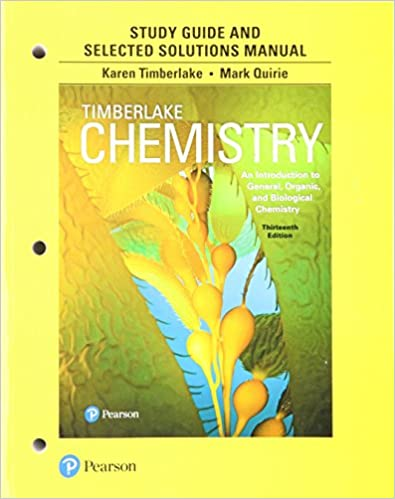 Book Study Guide and Selected Solutions Manual for Chemistry: An Introduction to General, Organic, and Biological Chemistry