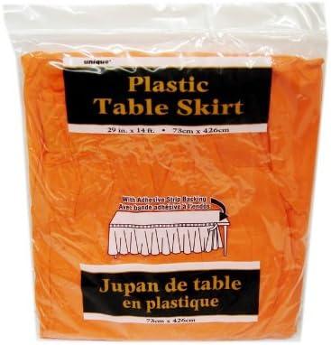 Jupe de Table en Plastique Orange 73 x 426 cm