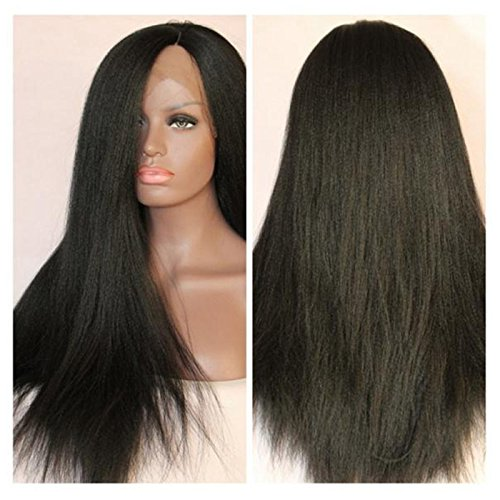 Amazon.com : Fashion Light Yaki Synthetic Lace Front Wig for Women Italian Yaki Straight Lace Front Synthetic Wigs with Baby hair (18inch) : Beauty