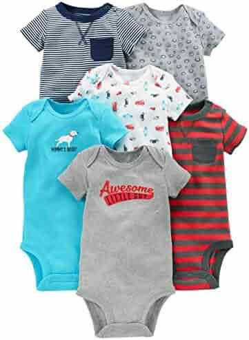 Simple Joys by Carter's Baby Boys' 6-Pack Short-Sleeve Bodysuit