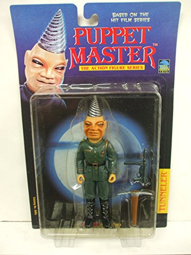 Puppet Master - Series 1 TUNNELER Action Figure with Green Uniform and Silver Drill Head]()