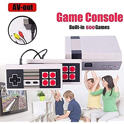 PANDA100 Classic Game Consoles,AV Output TV Game System,Built-in 620 TV Video Game with Dual Control 8-Bit Console Handheld Game Player Console for Children Family Entertainment: Toys & Games