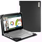 Broonel London - Profile Series - Black Vegan Leather Laptop Case Cover Sleeve For The HP Envy X360 Convertible