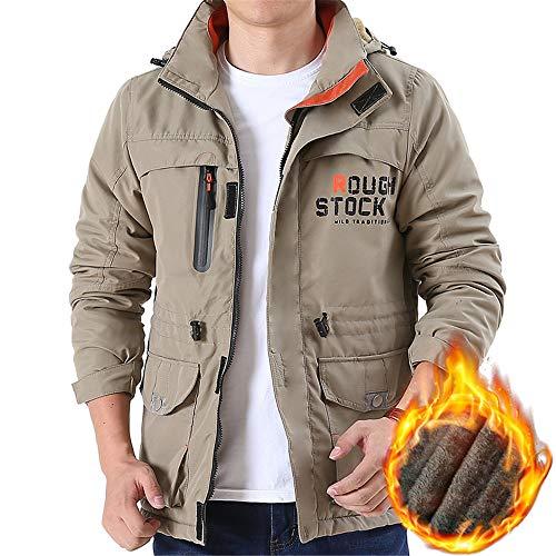 Da Xxxxl Kahaki Auming Invernale Giacca Kahaki color Antipioggia Sci Caldo Size Tasche Abbigliamento Per Montagna Cammina Impermeabile Giacche Uomo TTqx54