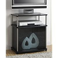 Convenience Concepts Designs2Go TV Stand with Cabinet for Flat Panel TVs Up to 25-Inch or 50-Pounds, Black