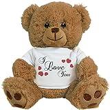 teddy bear that says i love you - Customized Girl I Love You White Bear: 8 Inch Teddy Bear Stuffed Animal