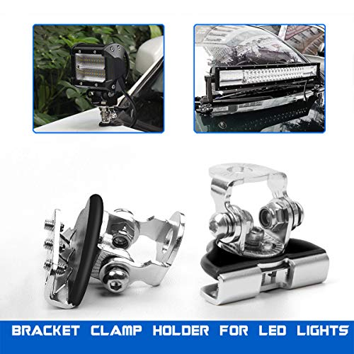 Led Light Bar Mounting Brackets, Rigidhorse 2pcs Universal A Pillar Hood Led Light Bar Mount Bracket Clamp Holder For Jeep ()