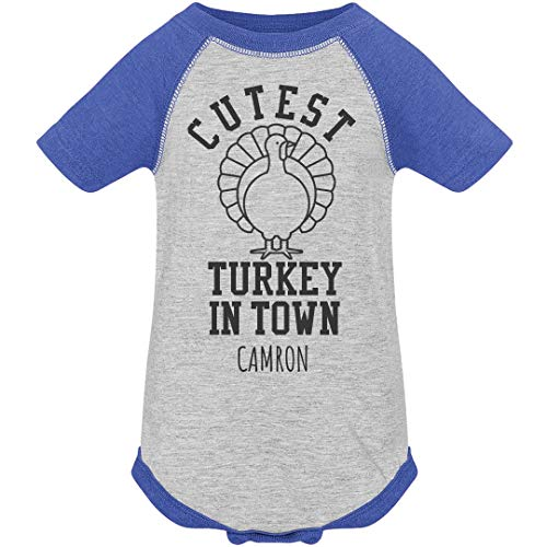 Camron Cutest Turkey in Town: Infant Vintage Raglan Bodysuit