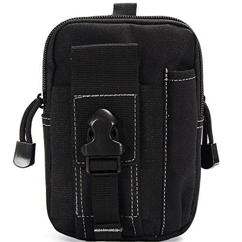 CAMTOA-Multi-Purpose-Poly-Tool-Holder-EDC-Pouch-Camo-Bag-Military-Nylon-Utility-Tactical-Waist-Pack-Camping-Hiking-Pouch-Black