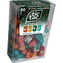 TIC TAC Spender Box with 60 Mini Boxes (Each 3.9 Grams) Liliput, Flavours : Orange, Mint, Peach, Peppermint.