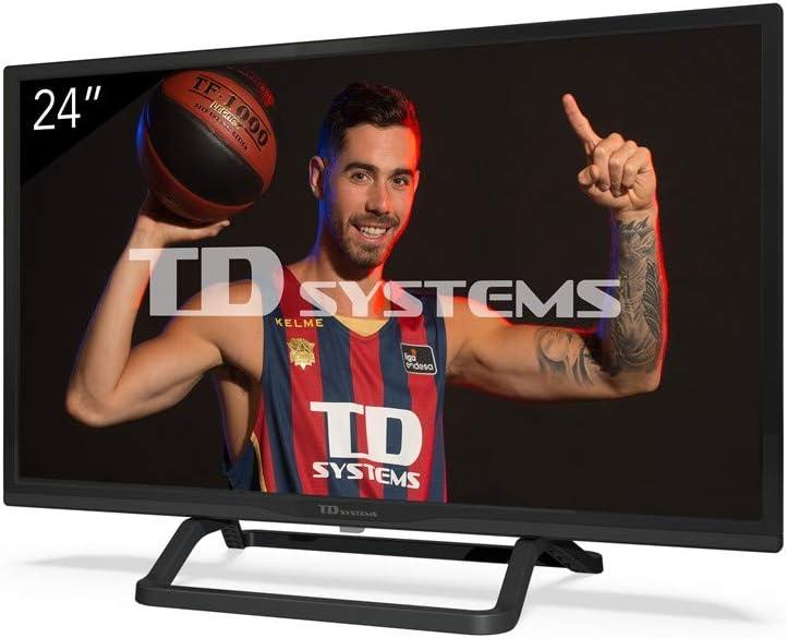 TD Systems - Televisor K24DLX11HS, Smart TV 24 Pulgadas, Android 7.0 y HBBTV, 800 PCI Hz, 2X HDMI, 2X USB. DVB-T2/C/S2, Modo Hotel, Negro: Amazon.es: Electrónica