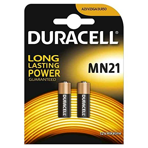 Guilty Gadgets - 2 X Duracell 23a, 23ae, A23, V23ga, Mn21, Lrv08 12v Alkaline Battery Batteries For Car Security Alarm Systems And Car Keys