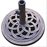 K&A Company 18-inch Cast Stone Umbrella Patio Base Outdoor Resin Cast Inch Stand