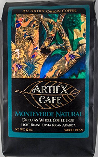 Artifx Cafe Monteverde Natural Costa Rica Coffee - 12 oz, Whole Bean - Nature Friendly - Light Roast ()