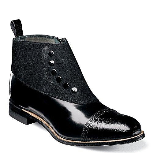 STACY ADAMS Men's Madison Cap Toe Boot Chukka, Black, 11 D US