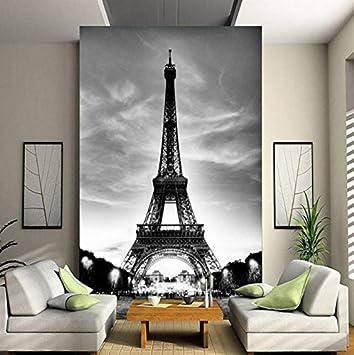 Kuamai Benutzerdefinierte 3D Wandbild Fototapete Eiffelturm ...