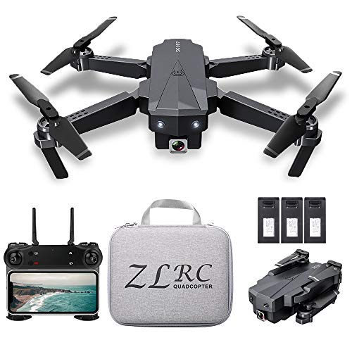 SG107 Foldable Mini Drone with Camera 4K HD Indoor RC Quadcopter APP Control with Headless Mode 360° Rotation Trajectory…