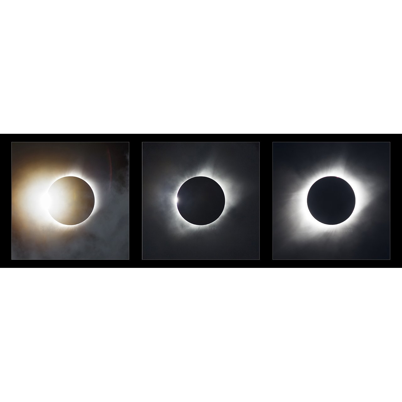 5x15 inch Panorama ''2017 Total Solar Eclipse'' by TravLin Photography