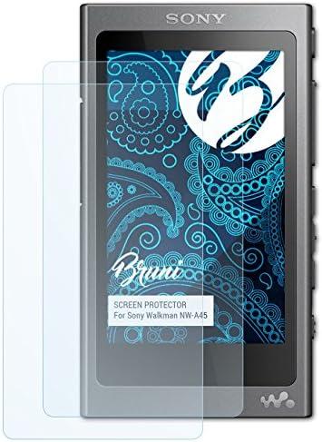 Bruni Schutzfolie kompatibel mit Sony Walkman NW-A45 Folie, glasklare Displayschutzfolie (2X)