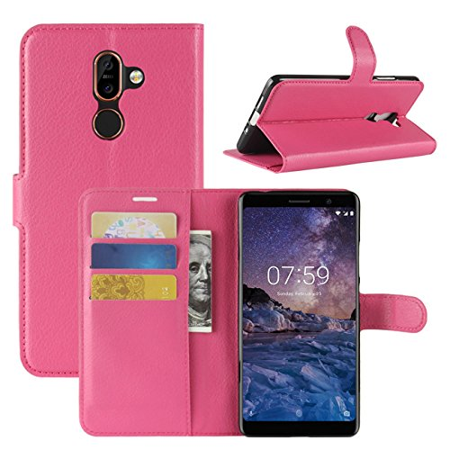 Nokia 7 Plus Case, Fettion Premium PU Leather Wallet Flip Phone Protective  Case Cover with Card Slots and Magnetic Closure for Nokia 7 Plus Smartphone