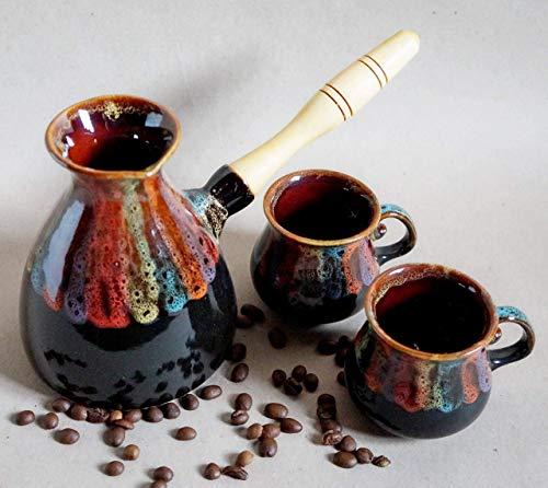 stoneware coffee pot - 3