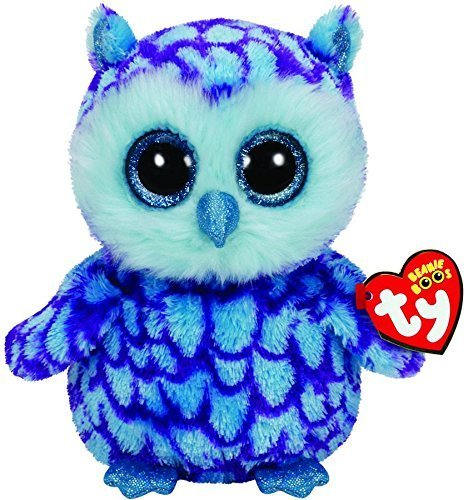 Ty Beanie Boos Oscar The Blue/Purple Owl Plush 6