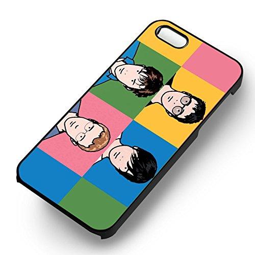 Blur Pop Art Bands pour Coque Iphone 6 et Coque Iphone 6s Case (Noir Boîtier en plastique dur) D5Y7TQ