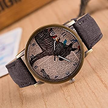 Fashion Watches Reloj Mujer Colorful Jeans Band Relogio Masculino Clock Brand Watches Antique Quartz Watch For