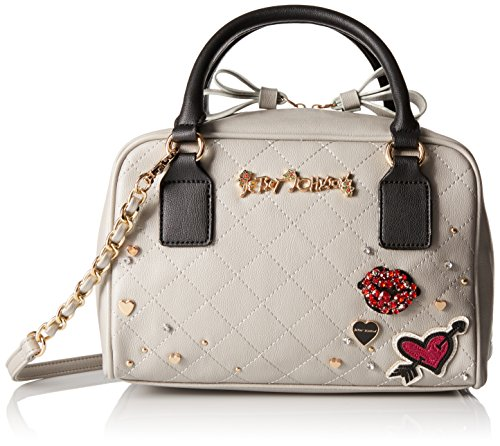 Betsey Johnson Peek-A-Boo Top Handle Handbag,Grey