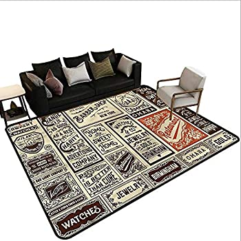 Image of Home and Kitchen Antique,Floor Mat Entrance Doormat 64'x 96' Pack Old Advertising Carpet mat