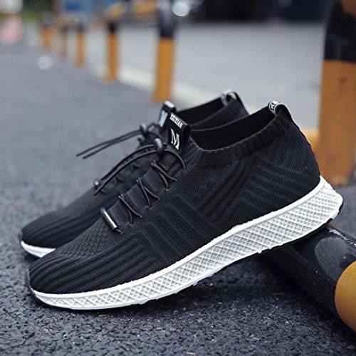 Hunputa Zomer Heren Sneakers Ademend Mesh Heren Casual Schoenen Sneakers Trail Hardloopschoenen Loopschoenen Basketbalschoen Zwart
